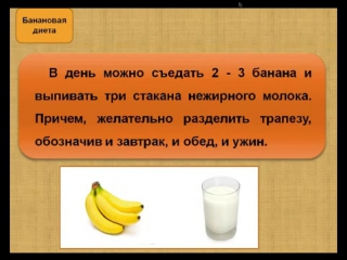 Банановая Диета На 3 Дней Меню. Банановая диета для похудения