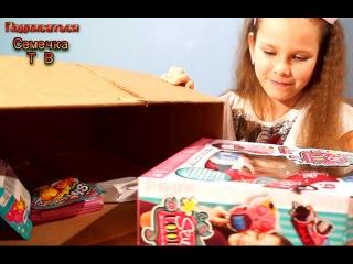 Посылка с игрушками: Наборы Швейная машинка Пакетики Шопкинс Суши пластилин Книга Легенд ЭАХ видео