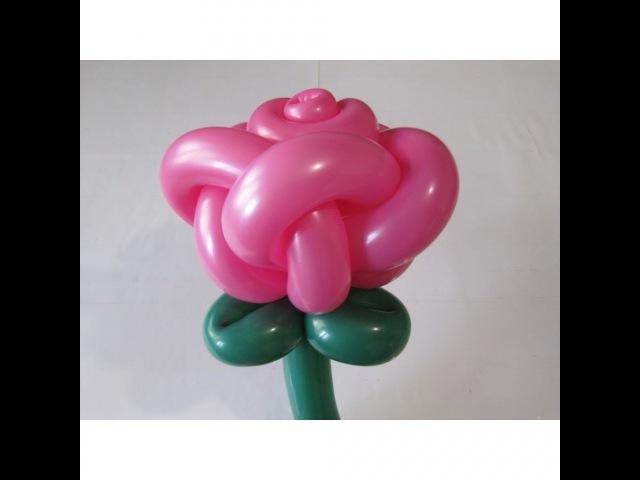 Роза из шаров 5 лепестков Rose of ballons 5 petals Subtitles