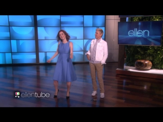Ellie kemper joins ellen for some moving moments rus sub