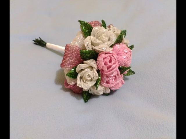 Свадебный букет из бисера Часть bouquet of 3
