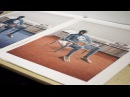 """Printing my first lithographic print """"High Fidelity"""""""