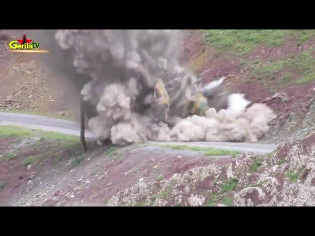 Подрыв на фугасе турецкой бронемашины Kipri