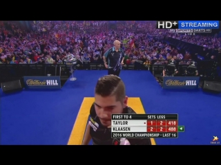 Phil Taylor vs Jelle Klaasen (PDC World Darts Championship 2016 / Round 3)