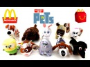 2016 McDONALD S THE SECRET LIFE OF PETS MOVIE HAPPY MEAL TOYS SET 10 PLUSH KIDS COLLECTION REVIEW US