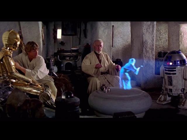 Help Me, Obi-Wan Kenobi. Youre My Only Hope - A New Hope [1080p HD]