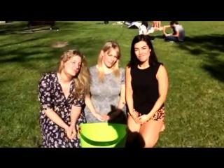 Virginia gay, katherine hicks and melanie vallejo do the ice bucket challenge (finally)