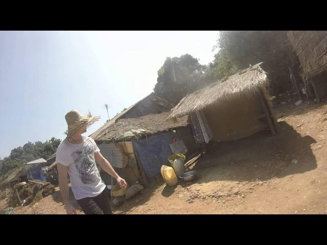 Walking trought Cambodians fishermans village on island near Kep