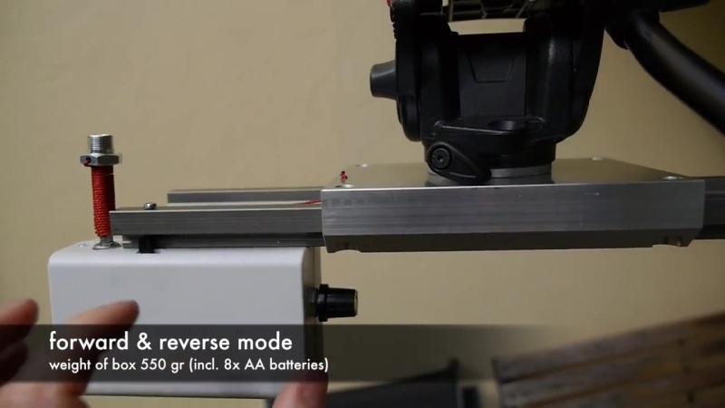 DIY motorized timelapse slider dolly with IGUS track WSQ 16 60