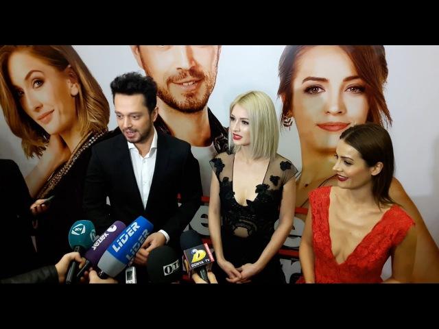 Dönerse Senindir filminin Galası Murat Boz Yasemin Allen İrem Sak Baku Nizami Cinema Center
