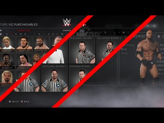 WWE 2K17 - New Main Menu - All VC Purchasables - Different Refs & More
