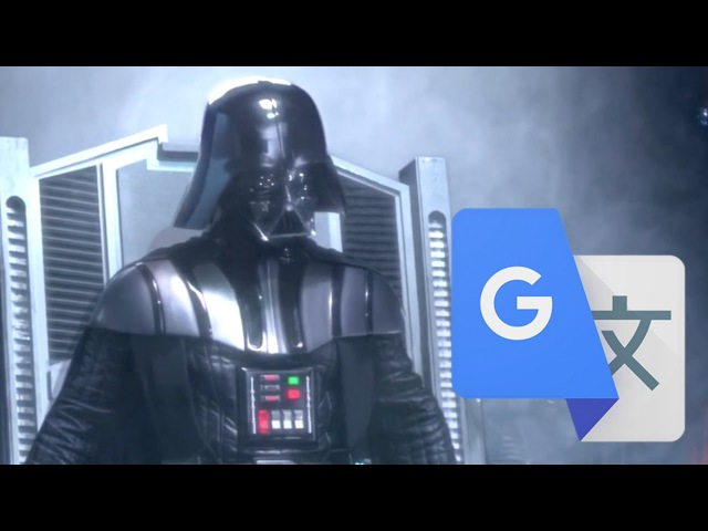 Darth Vader Awakens but it's dubbed by Japanese Google Translate