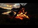 Расслабляющие звуки Костра и ветра у горной реки