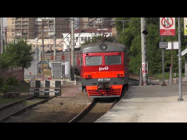 Электропоезд ЭР2Т-7154 платформа Станколит