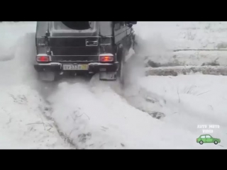 Мерседес гелендваген по снегу. Дрифт на гелике. Испытание гелика зимой - YouTube