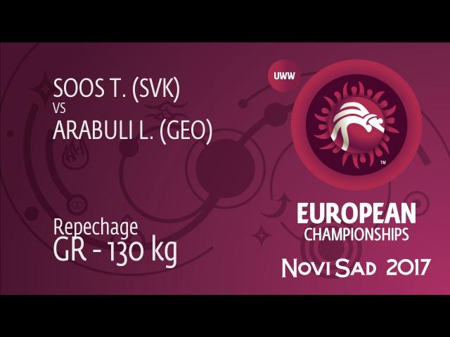 Repechage GR 130 kg L ARABULI GEO df T SOOS SVK by TF 8 0