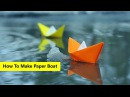 Easy Origami Tutorial Paper Boat How To Make a Paper Boat Origami