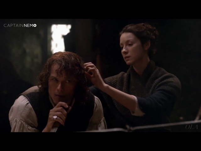Outlander Deleted Scene 2x09 Je Suis Prest Spear Them with your Dirk RUS SUB
