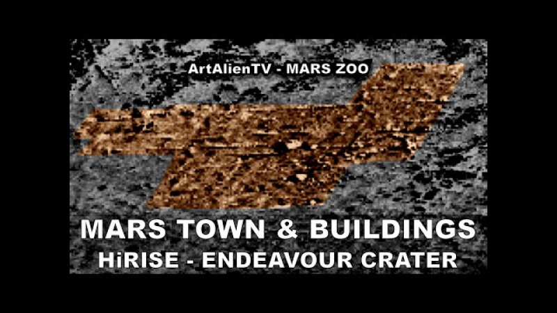 MARS TOWN LARGE BUILDINGS HiRISE Endeavour Crater City ArtAlienTV - 1080p