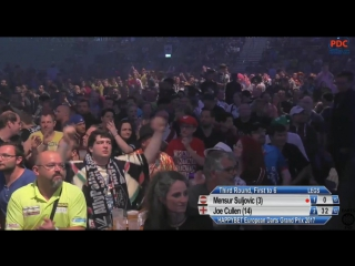 Mensur Suljovic vs Joe Cullen (European Darts Grand Prix 2017 / Round 3)