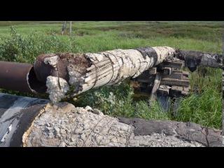 Воркута. 28. июля 2017 года. Усинский водовод. Подготовка к зиме.