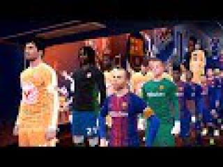 When Barcelona Against A Giant Team (Players With 210 cm Tall)   Camp Nou   PES 2017 HD