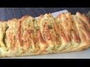 Закуска Чесночно сырный хлеб гармошка