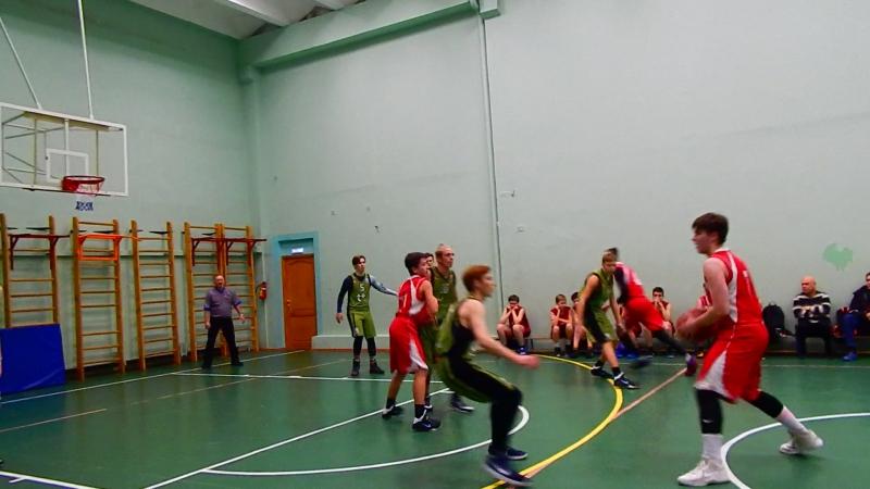 05.12.2017 г.Первенство города по баскетболу среди школьников (юноши) СШ №5-Гимназия-1- 50-38 третья и четвёртая четверть.