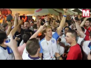 Англичане всю ночь веселились  в России и их никто не трогал!