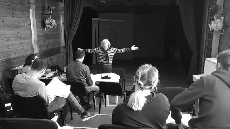 Репетиция рок оперы Биармия в театре Шкетана