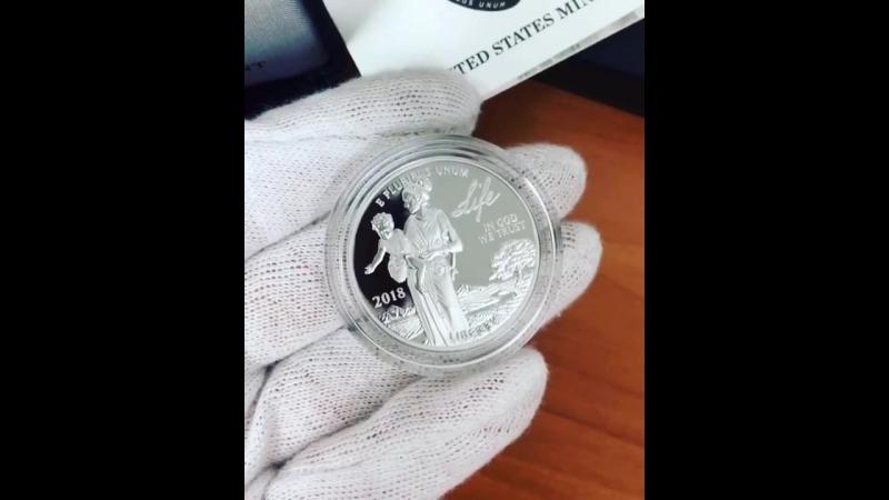 ПЛАТИНОВЫЙ ОРЕЛ США 2018 ГОДА В ПРУФ ВЕРСИИ! 2018-W 1 oz Proof Platinum American Eagle Coin