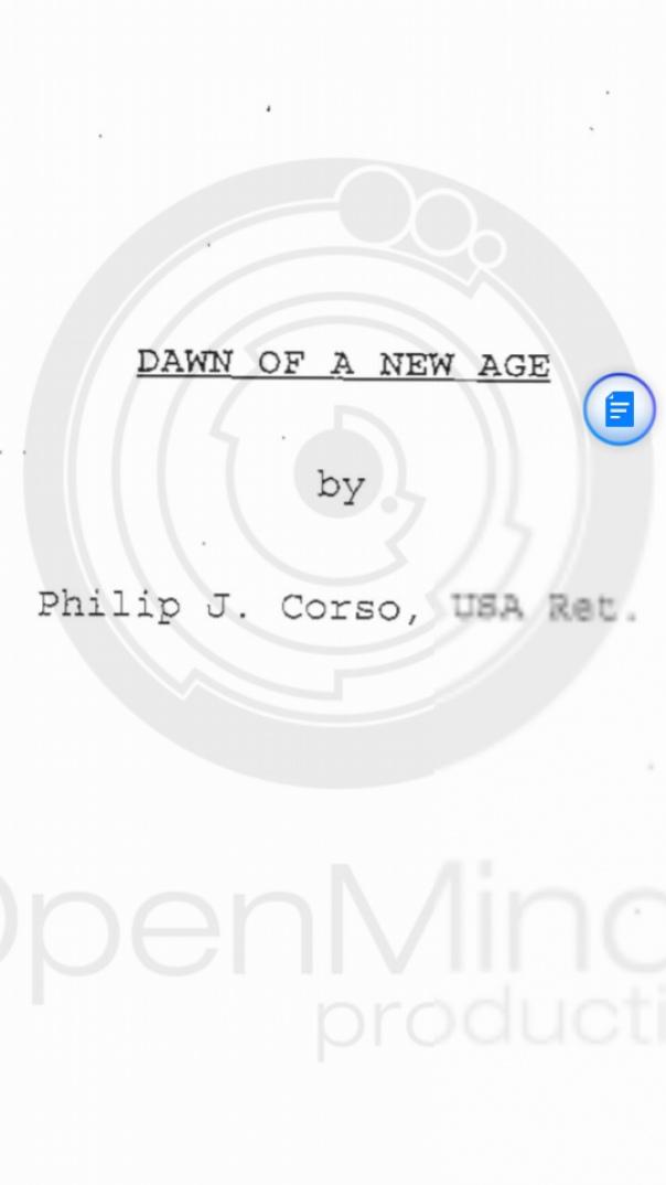 Philip Corso DAWN OF A NEW AGE