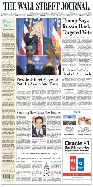 The Wall Street Journal - January 12, 2017 FreeMags