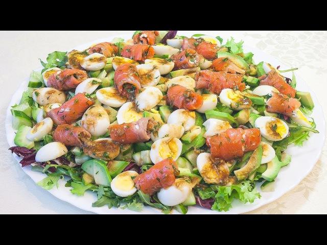 Вкусный салат с красной рыбой и авокадо Легенда