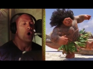Dwayne Johnson the rockon Singing / Дуэйн Скала Джонсон поёт / Моана Moana