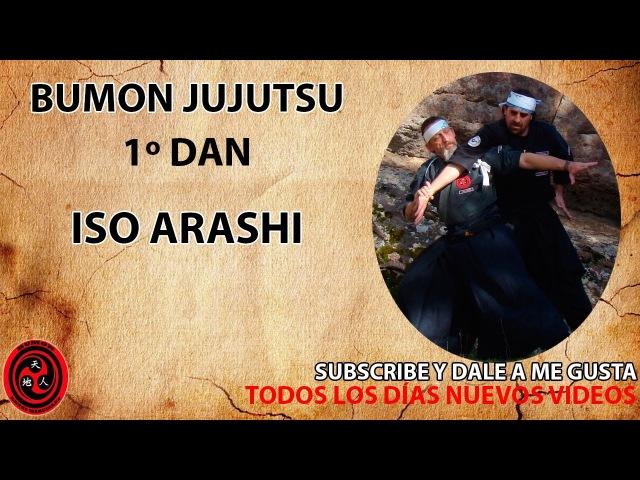 1 dan cinturón negro jujutsu kata Iso Arashi ninpo taijutsu Bumon
