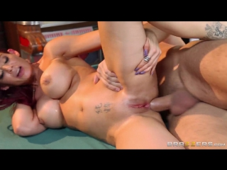 Ryder skye - anal porn with busty milf on the pool table in the bar