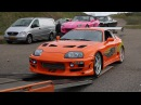 FAST FURIOUS CARS AT FAN EVENT ZANDVOORT! Brian s Eclipse Original Supra Dom s Charger