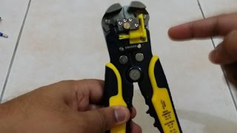 Automatic Wire Stripper Crimper Cutter Unboxing and Review (From AliExpress)
