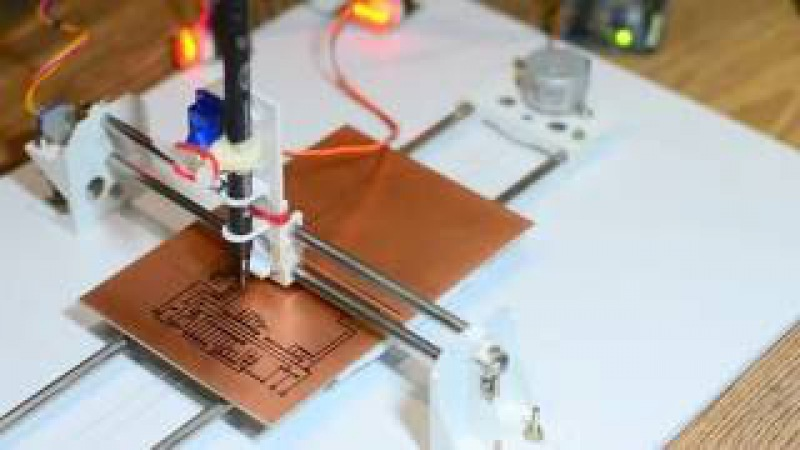 DIY PCB Ink Plotter using Arduino and GRBL CNC Опубликовано 11 дек 2016 г oPVc9ixj0iU This homemade PCB Ink plotter is built using Arduino running GRBL CNC firmware 28BYJ 48 stepper motors 3D printed parts and other few other hardw