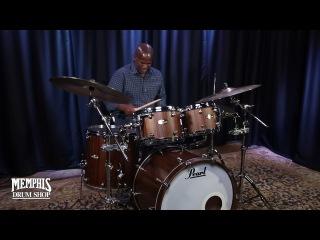 Pearl Masterworks Studio Drum Set 22/10/12/16 - Matte Walnut over Black Limba