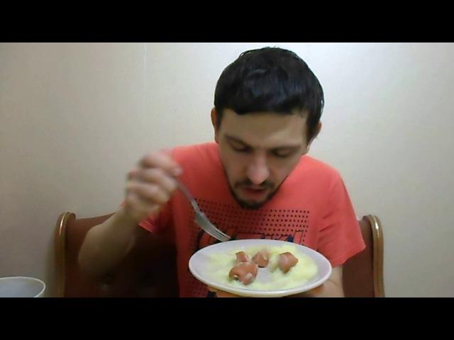 ОБЖОР: Сосиски Рузком Докторские картофельное пюре с морской капустой и зеленым луком