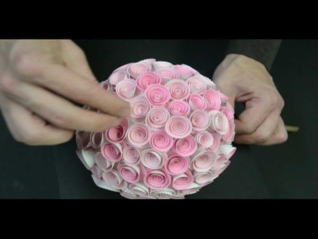 Memory Box Paper Rose Topiary