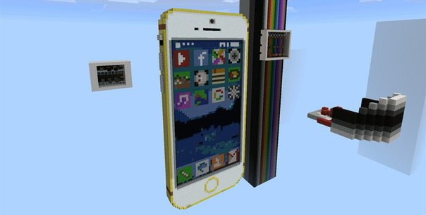 механизм телефон iphone работающий в майнкрафте #6