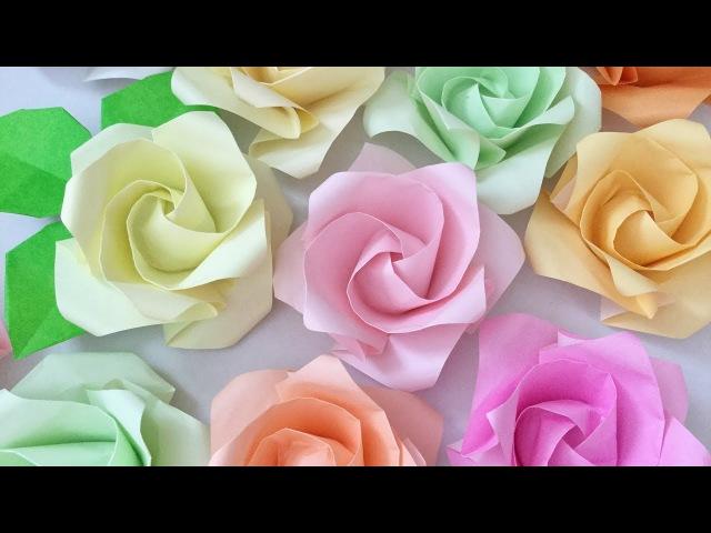 折り紙 [難]×2 再び「1分ローズを折ってみた」 Origami 1minute Rose