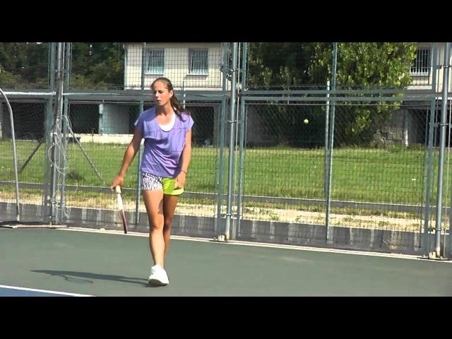 EMPIRE Tennis Academy Darya Kasatkina's hard work before the hard court season in L4T