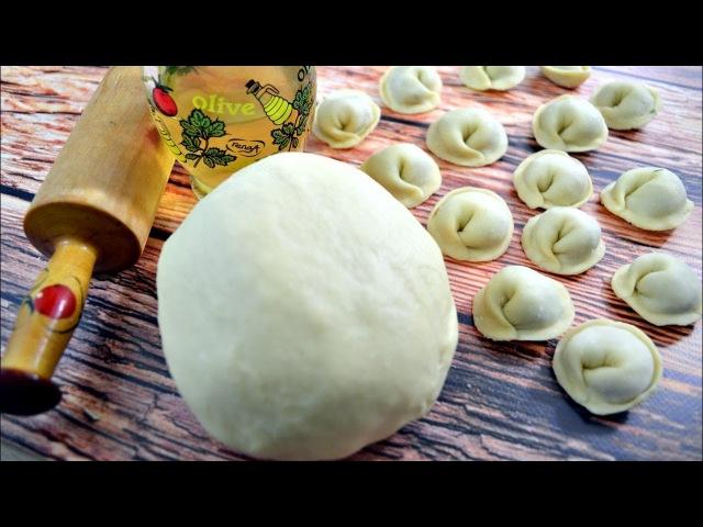 Идеальное тесто для пельменей и вареников с яйцом на молоке
