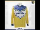 Parma le maglie in 104 anni di storia