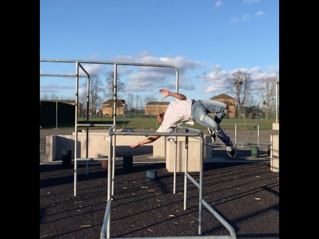 Joe Scandrett on Instagram you guys seemed to like my throwback of underbar clip last week So I hit his one yesterday at Slough Parkour Park Al