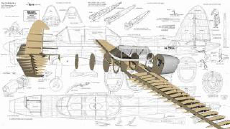 De Havilland DHC-1 Chipmunk RC Model Wood pack